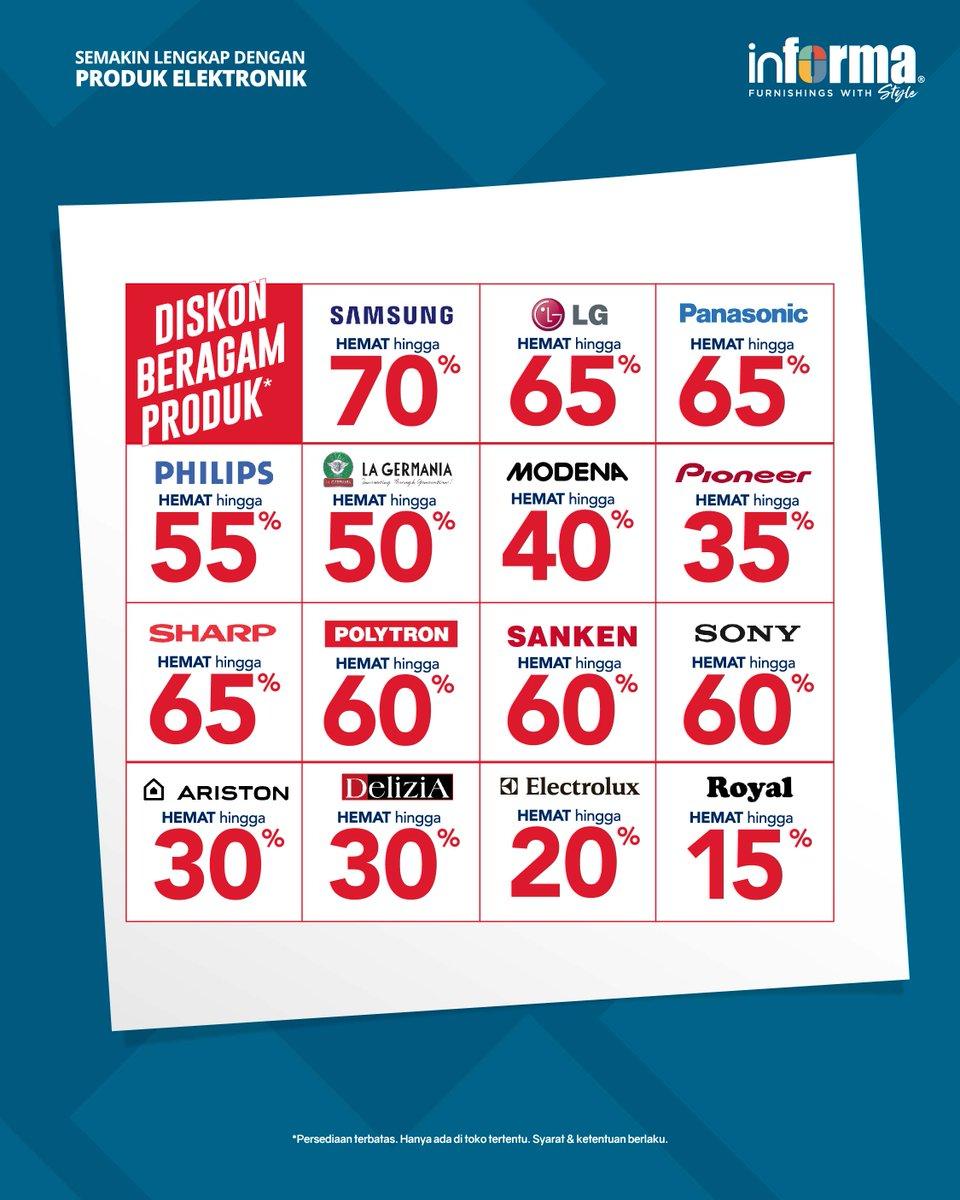 #Informa - Promo Diskon s.d 70% Produk Elektronik Unggulan (s.d 08 Jan 2019)