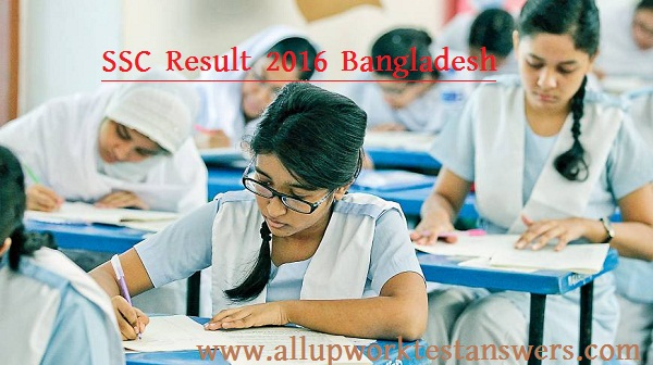 SSC Result 2016 Dhaka Bangladesh All Education Board