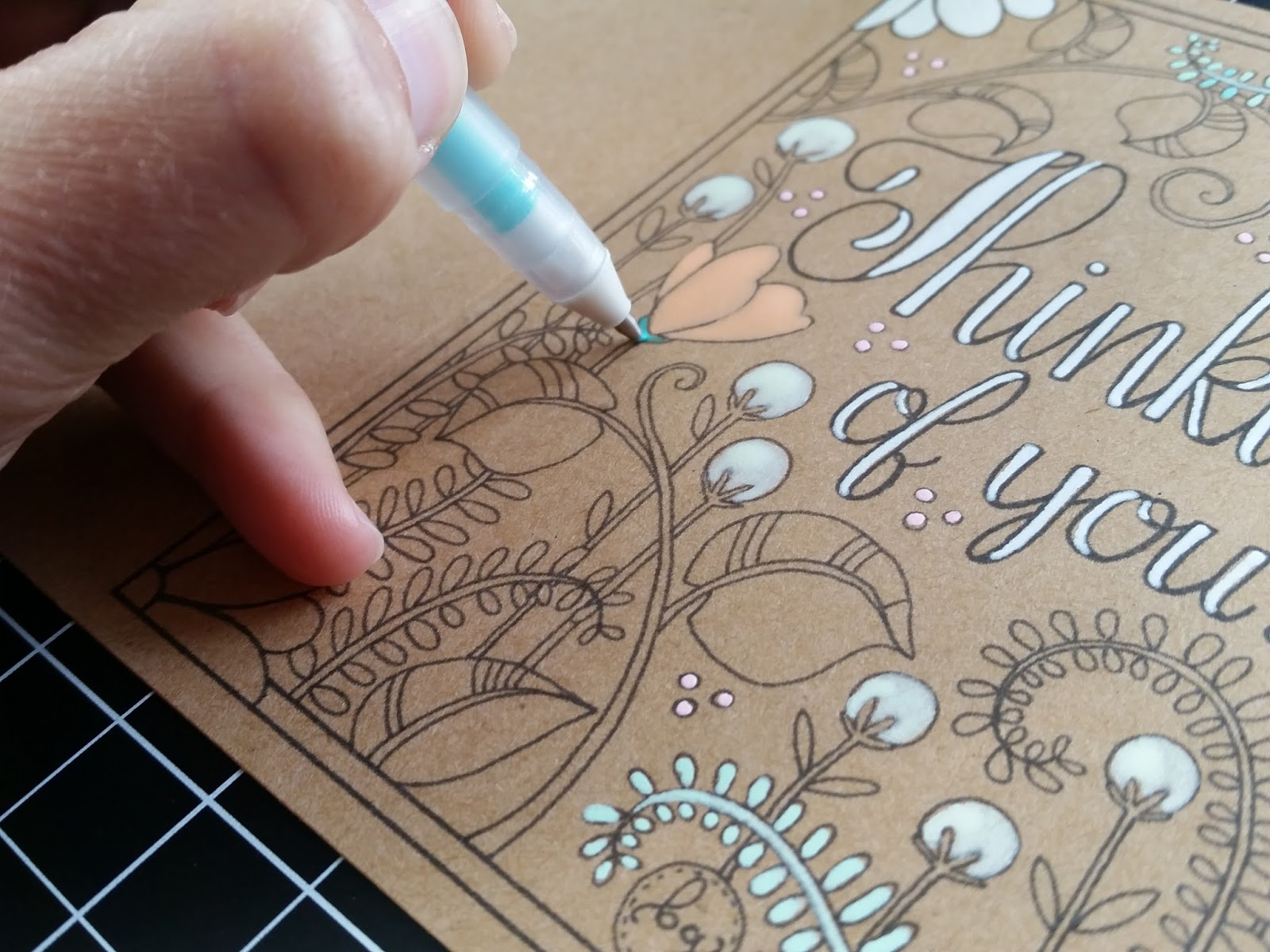 Coloring Pages Of Fancy Alphabet Letters : Hoffee and a nuffin coloring page thinking of you note card