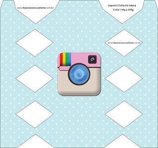 Instagram Party: Free Printable Boxes.