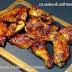 Alitas de pollo al horno con salsa barbacoa o BBQ casera