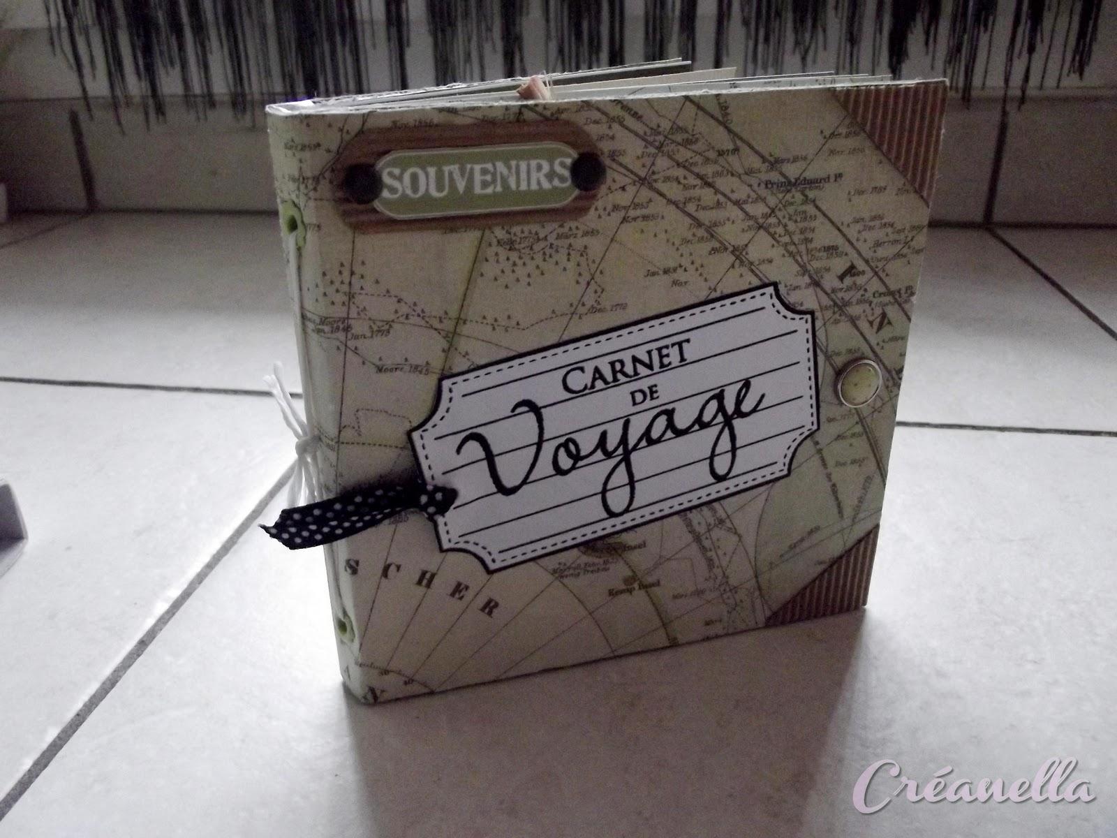 """Préférence Créanella atelier créatif: Mini album """" carnet de voyage """" FH41"""