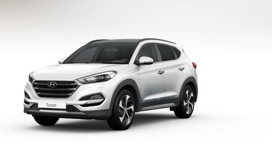 colori Nuova Hyundai Tucson 2016 colore bianco - polar white frontale davanti