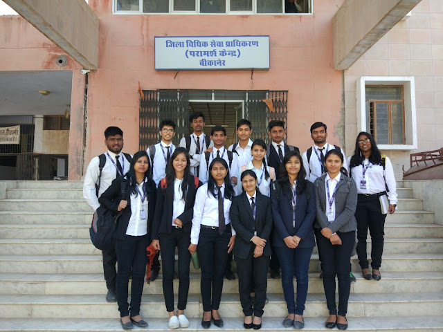 District Court Visit, Bikaner School of Law, RNB Global University