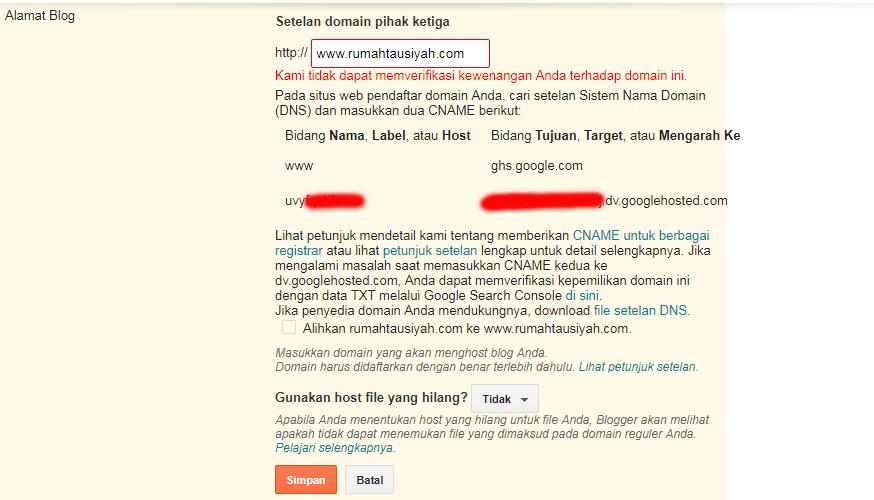 unique Code Domain Blogger