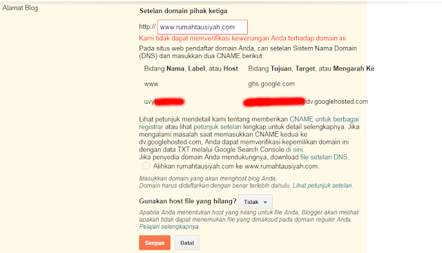 Backup Kode Unik Custom Domain Blogger