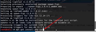install php-cgi