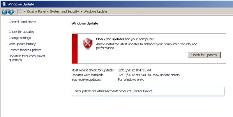 how to change windows update url