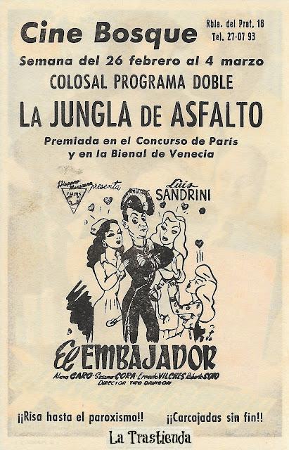 Programa de Cine - La Jungla de Asfalto - Sterling Hayden - Louis Calhern - Marilyn Monroe