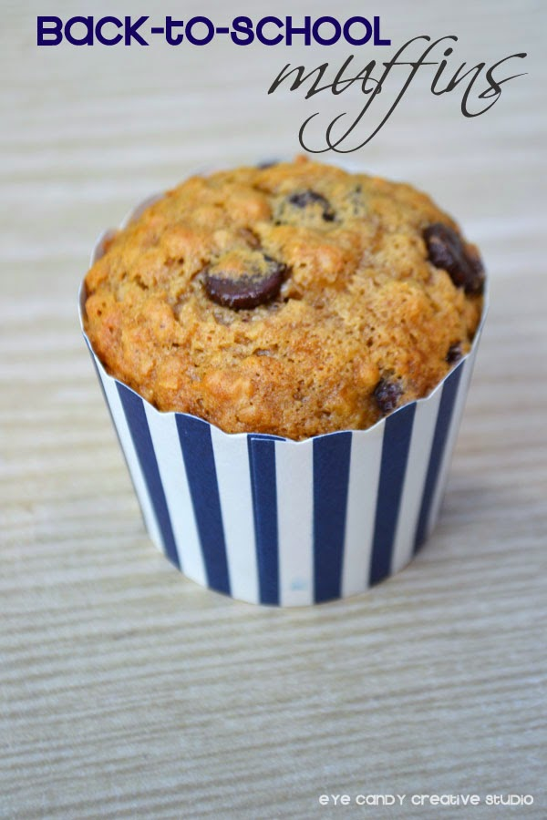 back to school breakfast, blue stripe muffin wrap, school breakfast idea