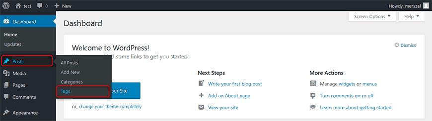 Membuat Tags WordPress
