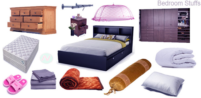 bedroom stuffs name, bedroom vocabulary, bedroom furniture