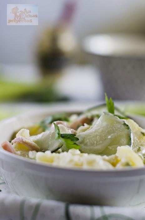 receta de ensalada japonesa de patata y pepino