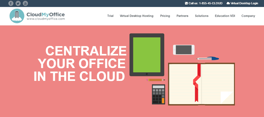 CloudMyOffice offers easy-to-manage virtual desktops