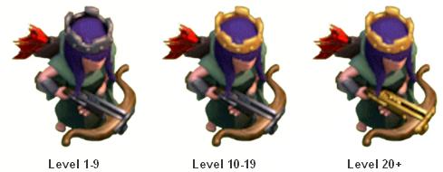 Biaya dan Lama Upgrade Heroes Archer Queen