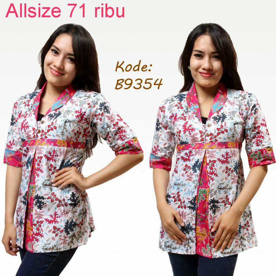 Contoh Gambar Baju Batik Modern: Contoh Model Baju Batik Kerja