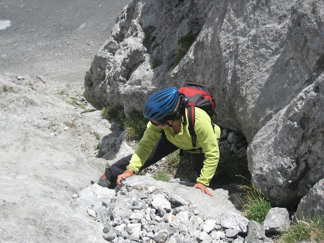 Rutas Montaña Asturias: Saliendo de la trepada del Siete