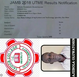 WHO HAS THE HIGHEST SCORE OF JAMB 2018 UTME?