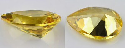 Golden_Yellow_CZ_Pear_8x12mm_China_Wholesale