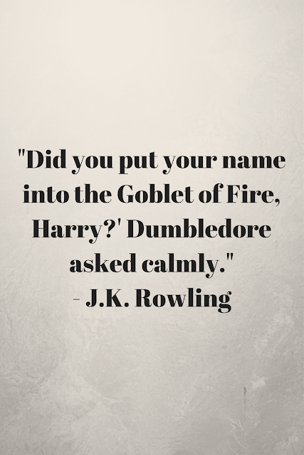 Re-reading 'Harry Potter and the Goblet of Fire' by J. K. Rowling