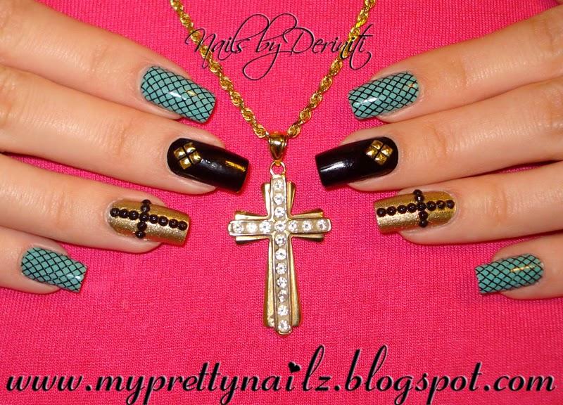My Pretty Nailz: Edgy Elegant Glitzy Studded Christian ...
