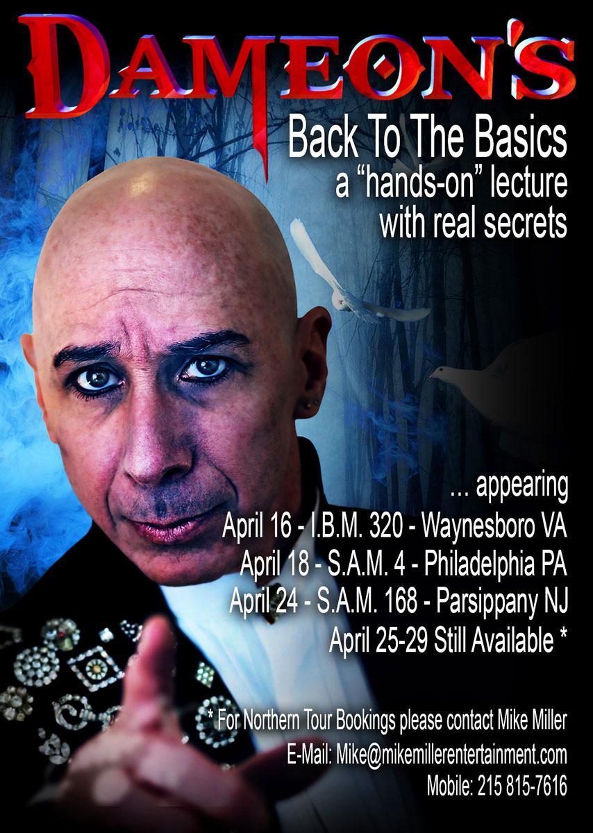 Dameon - Back To The Basics - VA-PA-NJ lecture tour kick-off