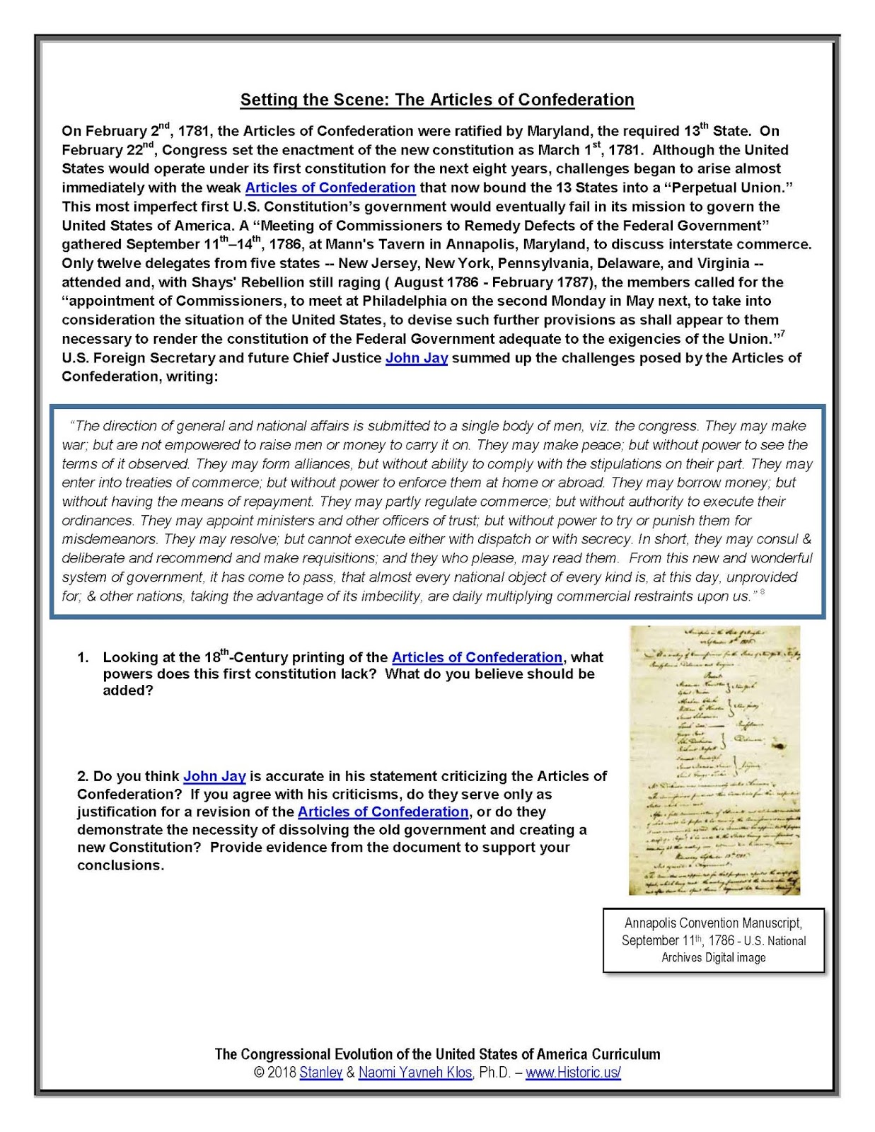 United Colonies And States Presidency Present Ceus Curriculum