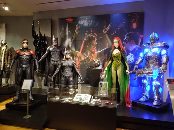 Batman and Robin movie costume prop exhibit