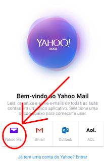 Como fazer login no Yahoo email