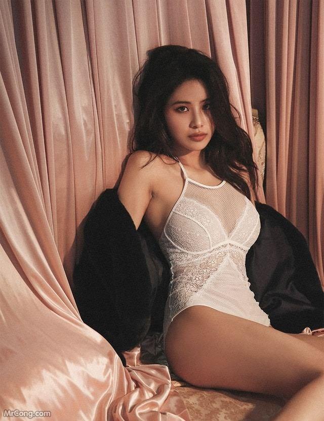 Image Korean-Model-Ju-Woo-012018-MrCong.com-016 in post Người đẹp Ju Woo trong bộ ảnh nội y tháng 01/2018 (50 ảnh)