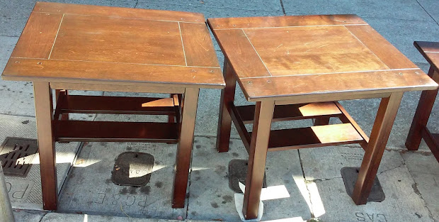 Uhuru Furniture Collectibles Sold Pair End Tables 70 Year Of Clean