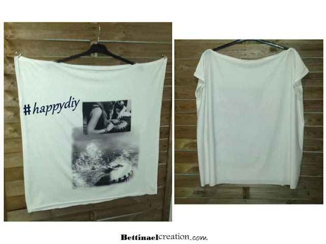 Diy patron tee shirt ultra facile faire bettinael passion couture made in france - Tuto facile france ...