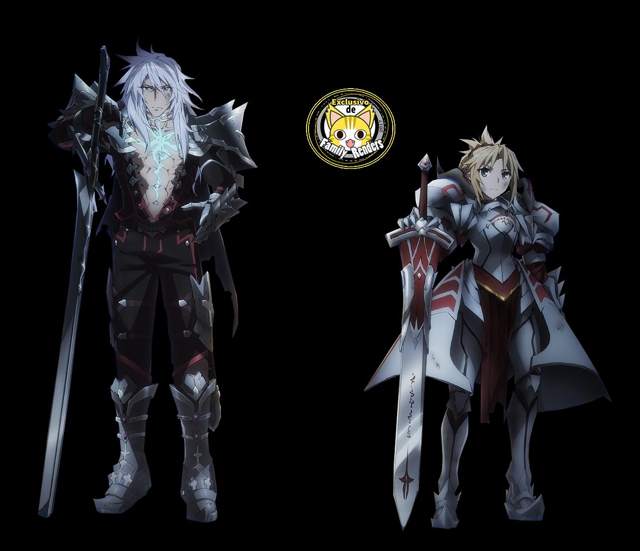 render  Mordred (Saber of Red)  +  Siegfried (Saber of Black)