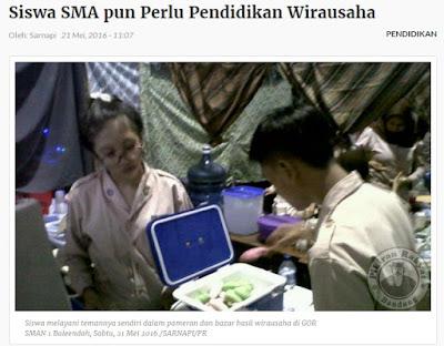 Insfiratif: Pendidikan Wirausaha Diadakan di SMA Bandung Ini