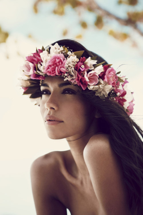 Instrucciones peinados con flores en el pelo Colección de estilo de color de pelo - Peinados a la Moda: Cabello con flores de moda