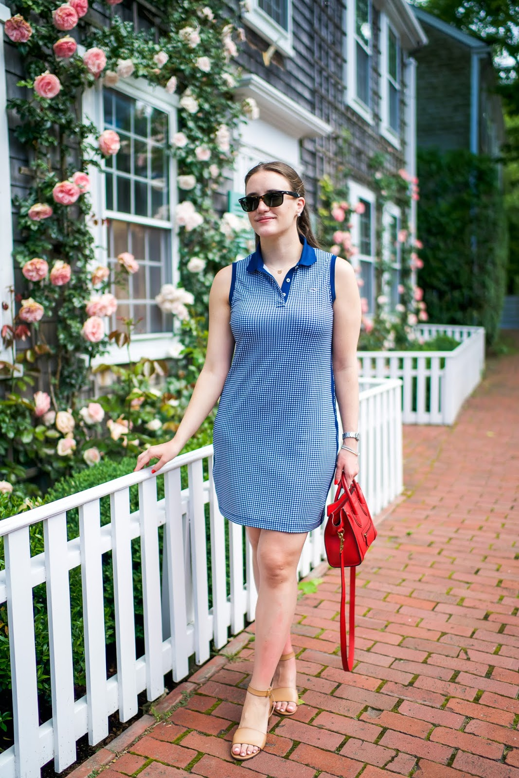 blue polo dress outfit featured by popular New York fashion blogger, Covering the Bases