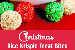 Christmas Rice Krispie Treat Bites Recipe