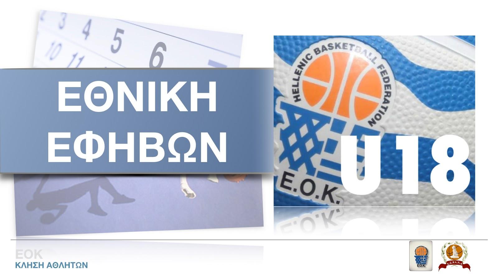 EOK | Εθνική Εφήβων: Δύο φιλικοί αγώνες (14 κ 15.07.18) προετοιμασίας στην Βουλγαρία. Ποιοι αθλητές μετέχουν στην αποστολή