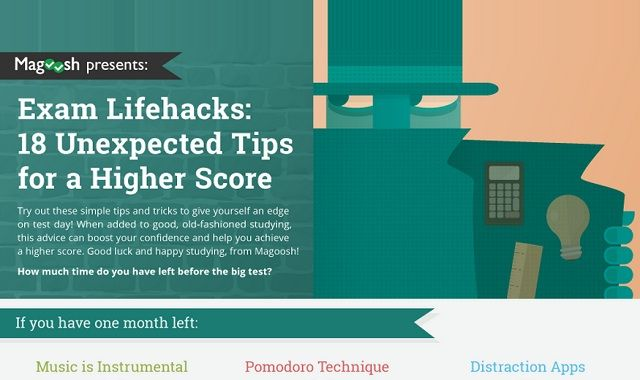 Image: Exam Lifehacks: 18 Unexpected Tips for a Higher Score #infographic