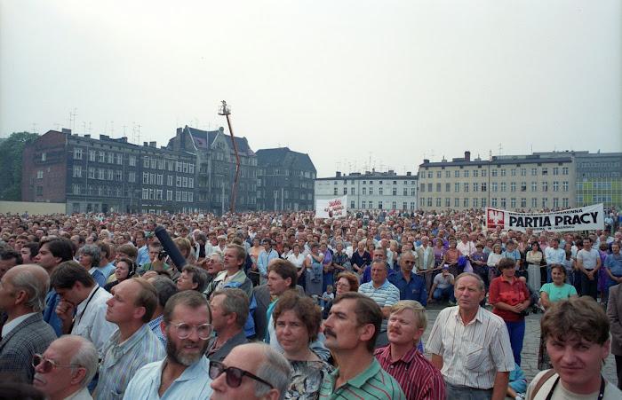 Gdansk, chantiers navals, Stocznia Gdanska, Solidarnosc, © L. Gigout, 1990