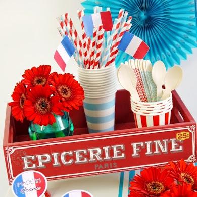 Sweet Table en Bleu, Blanc et Rouge pour le 14 Juillet