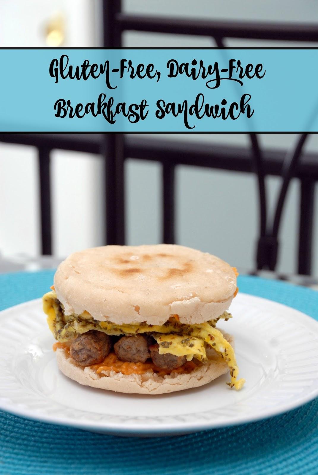 Gluten Free, Dairy Free Breakfast Sandwich ~ anartfulmom.com