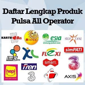 list harga pulsa all operator Rajawali Reload 2016