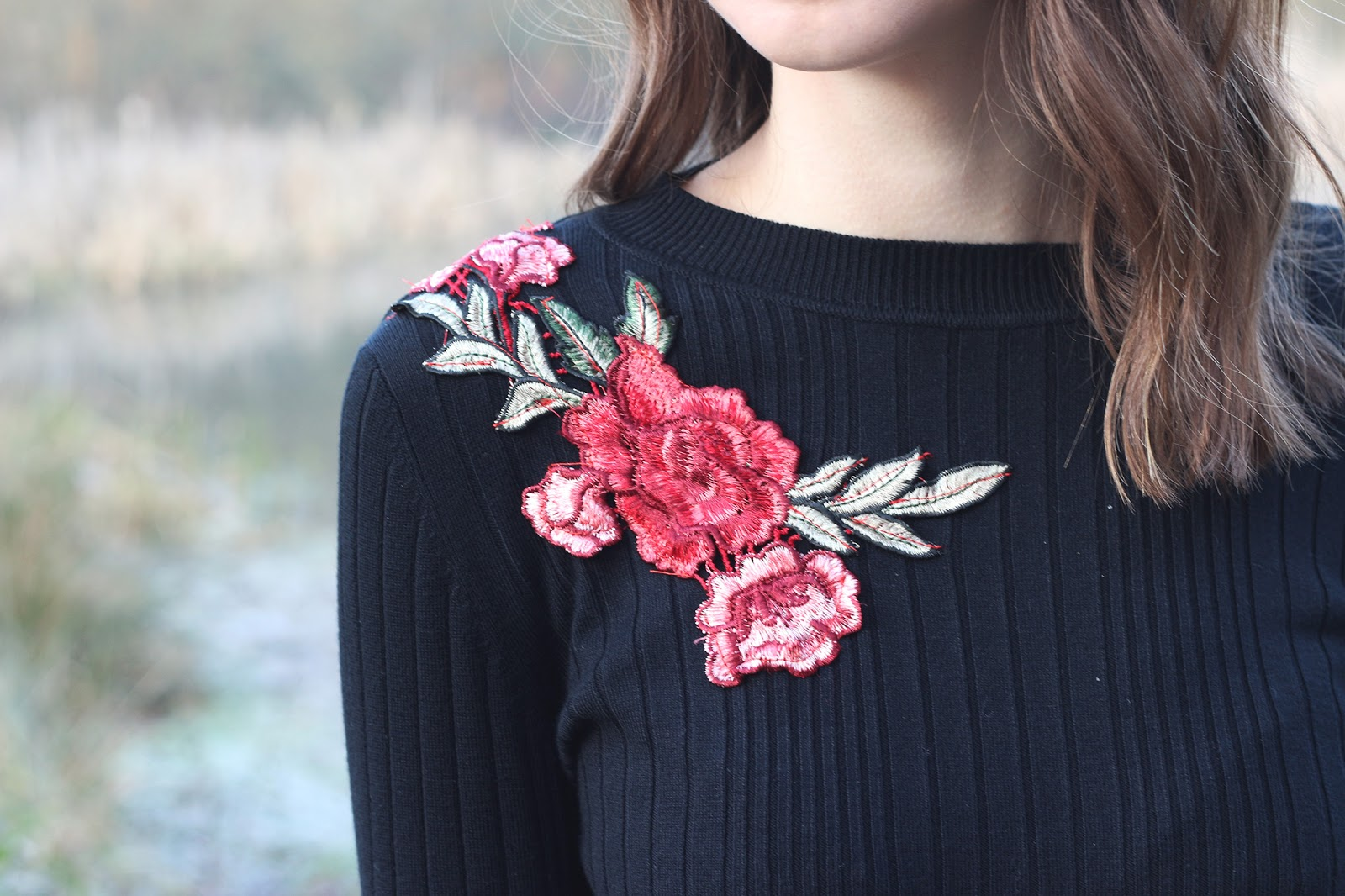 An image of New Look embroidered floral jumper