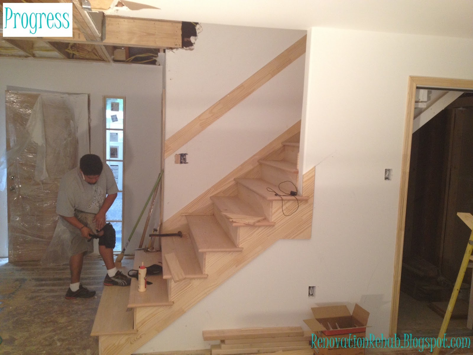 Renovation Rehab Replacing The Staircase From H E Double Hockey Sticks With A Heavenly