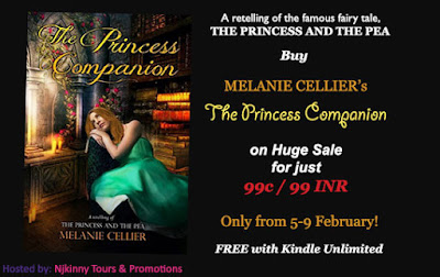 99c/99 INR Sale, Book Blitz: The Princess Companion: A Retelling of The Princess and the Pea (The Four Kingdoms Book 1) by Melanie Cellier