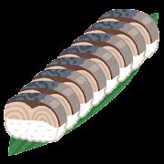 鯖の棒寿司のイラスト