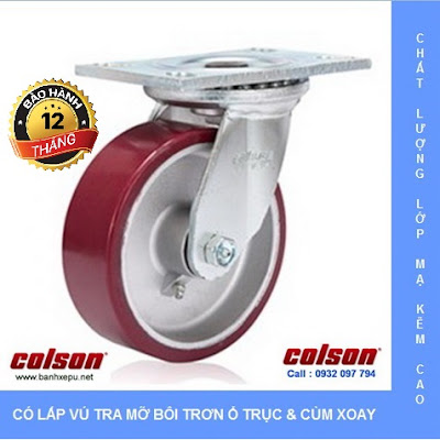 Bánh xe xoay di động chịu lực 675kg Colson Caster 8 inch | 6-8299-939 banhxedayhang.net