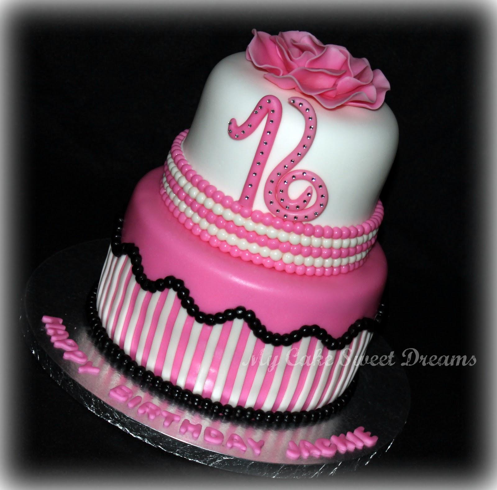 """My Cake Sweet Dreams"": Sweet 16 Birthday Cake"