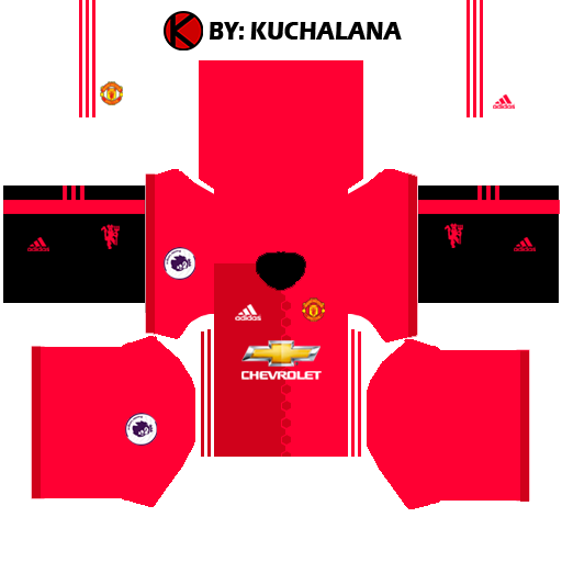 Manchester United Kits 2016/2017 - Dream League Soccer 2015